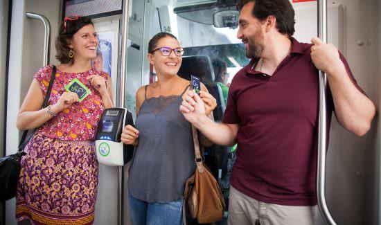 La city card dans le tram
