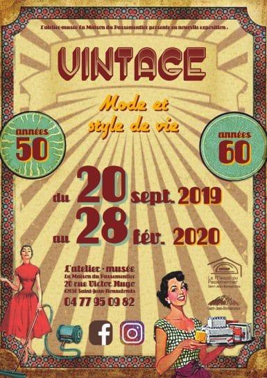 Exposition Vintage, mode et style de vie des années 50-60