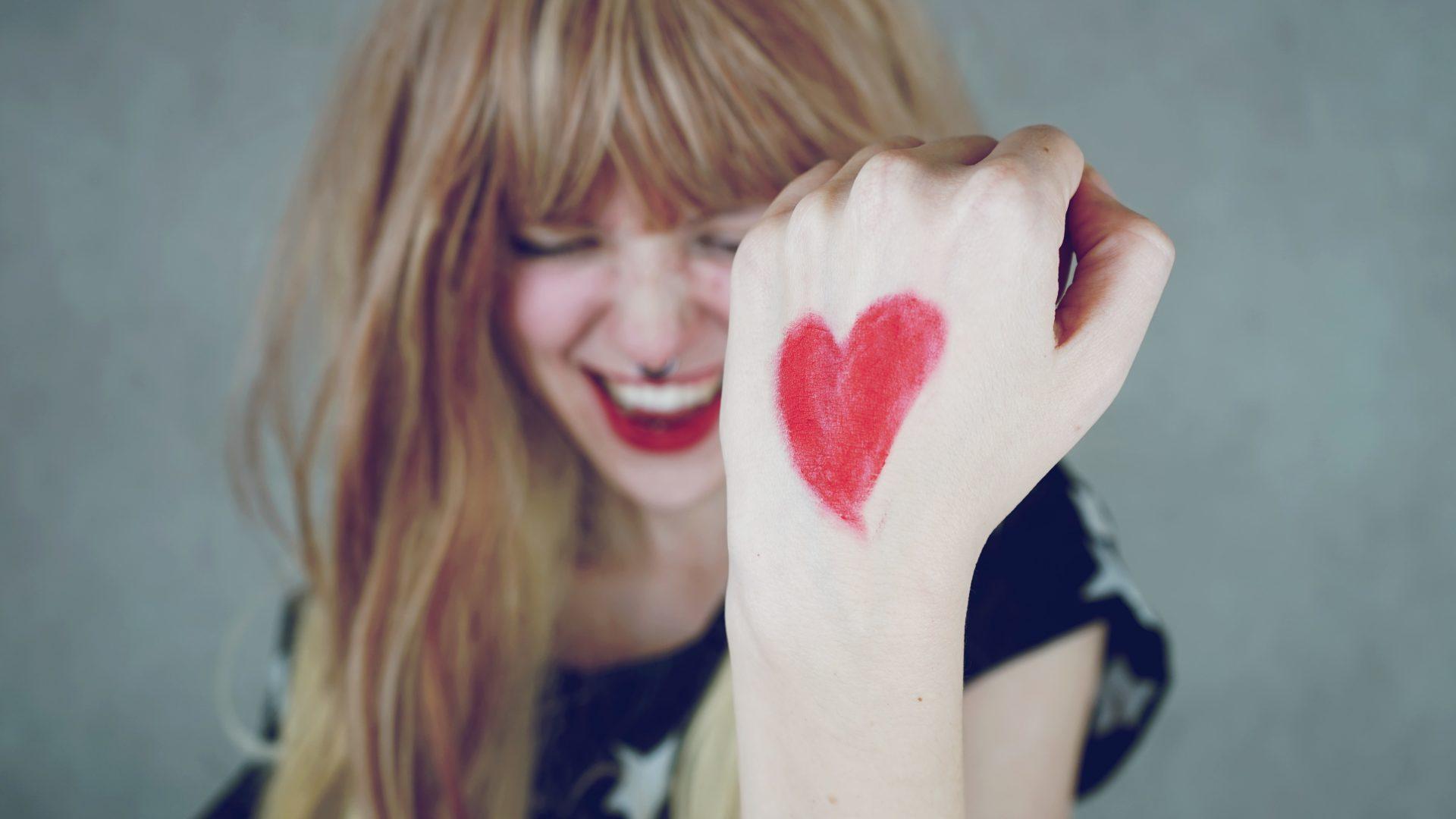 Fille coeur